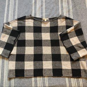 eileen fisher boxy crop sweater sz s